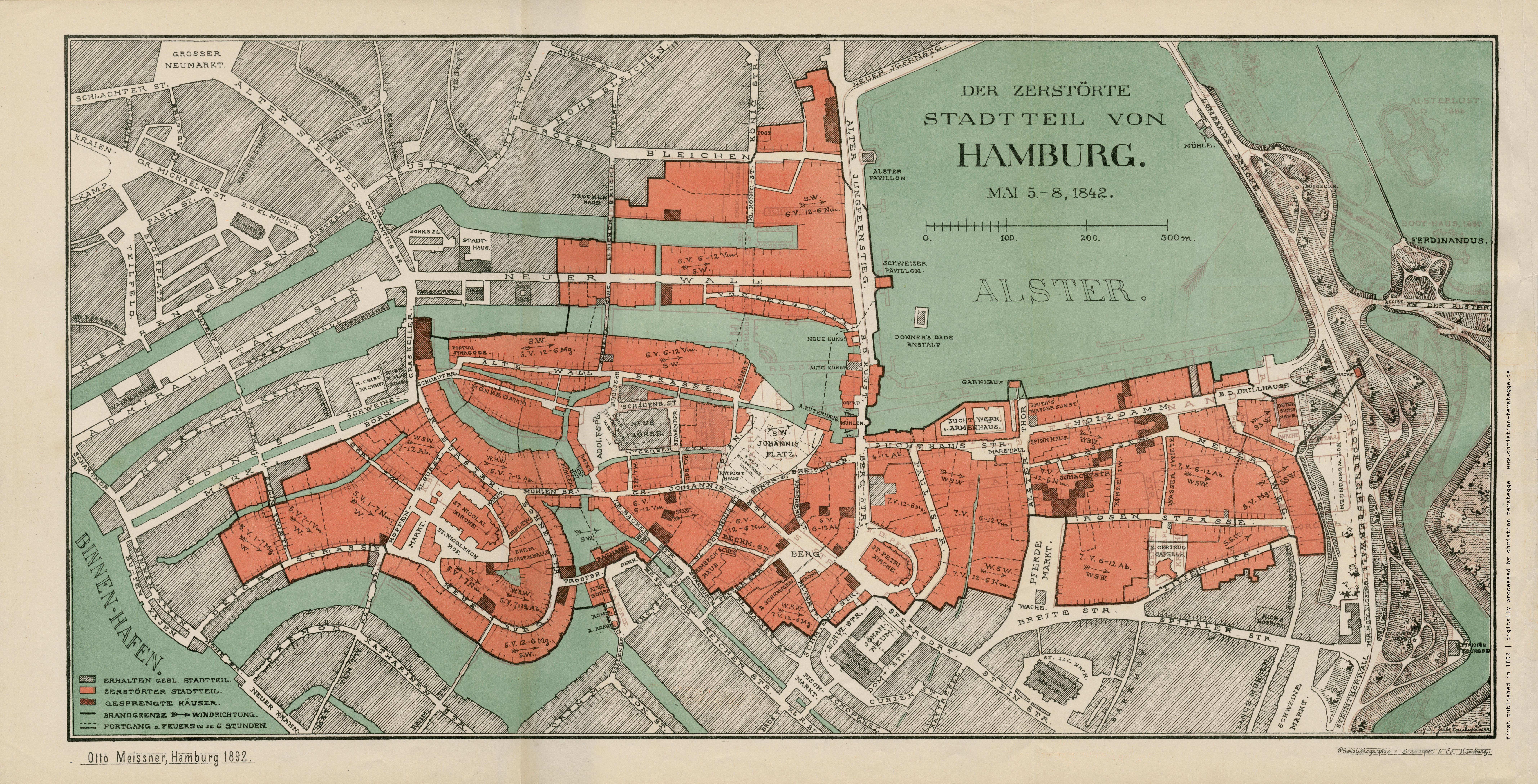 Alte Und Historische Karten Aus Hamburg Zu Speziellen Themen