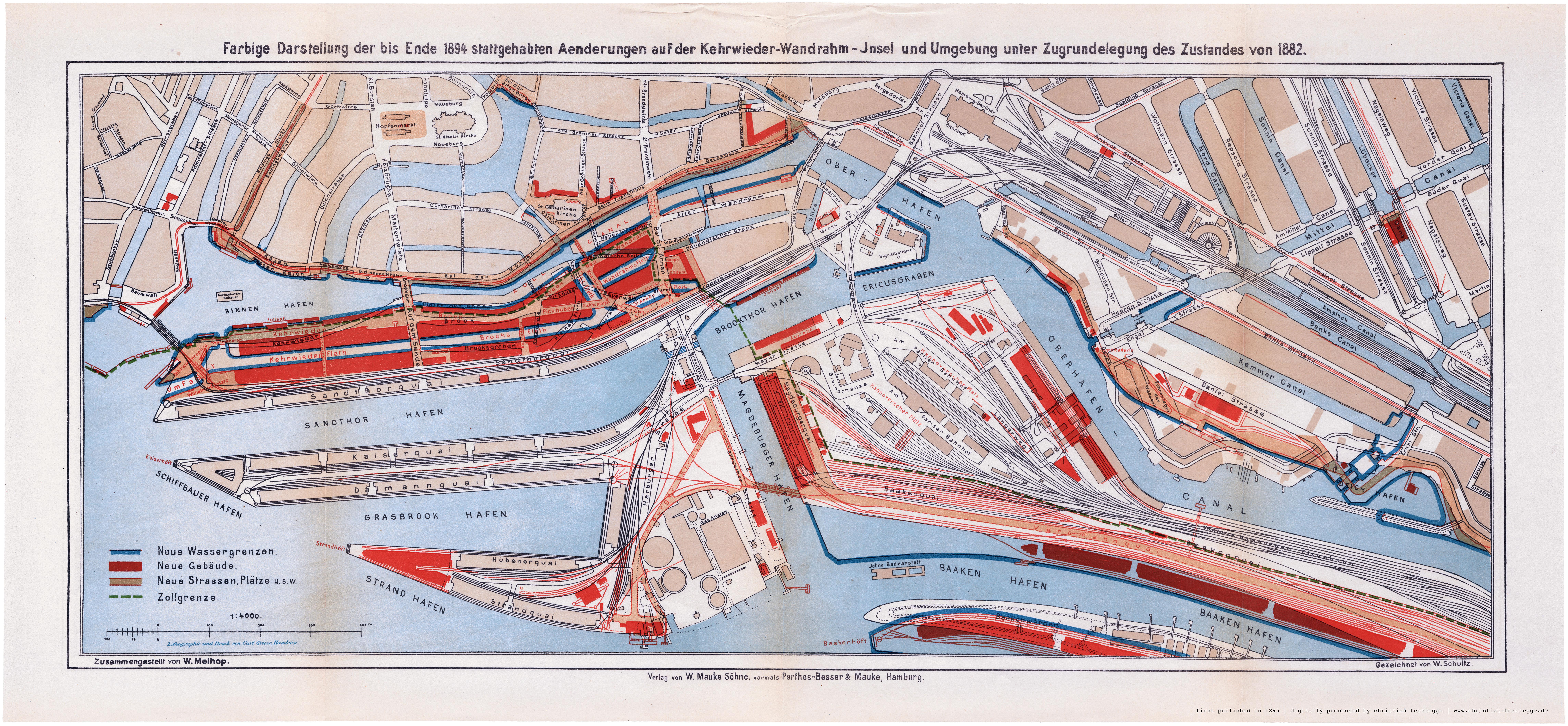 karte freihafen hamburg Alte und historische Pläne aus Hamburgs Häfen