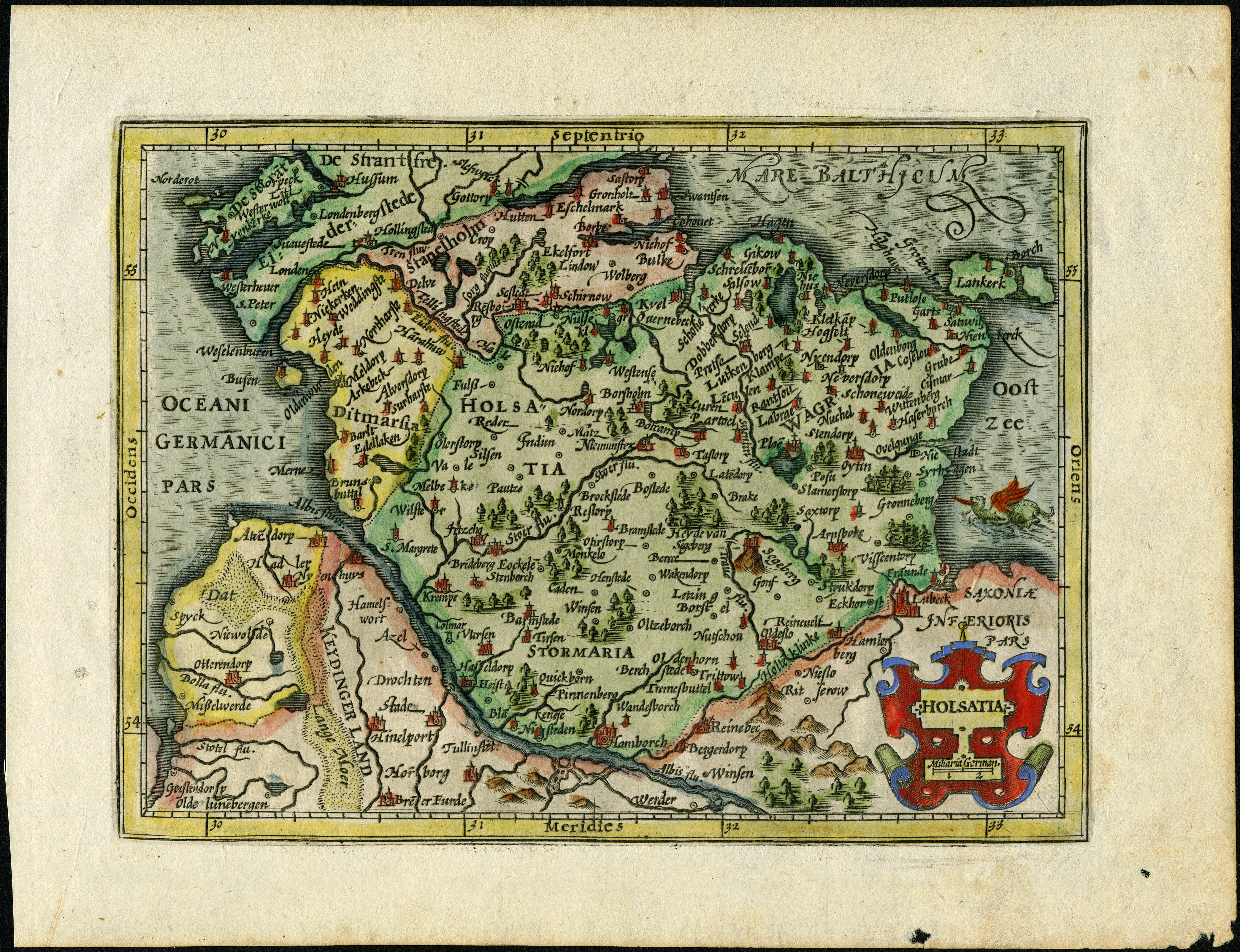 Karte Lübeck.Alte Und Historische Karten Aus Hamburgs Umgebung