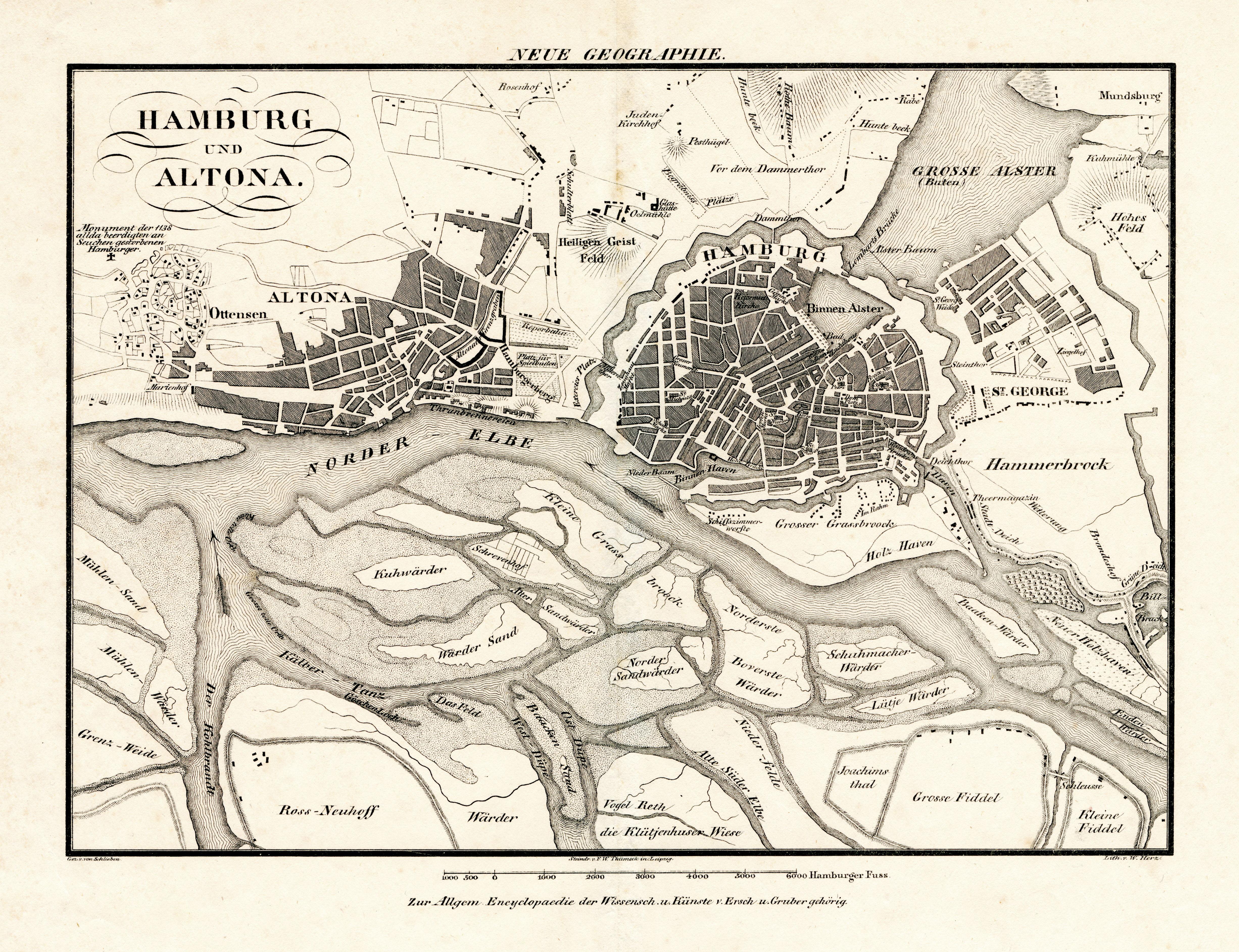 Karte Weimar Und Umgebung.Alte Und Historische Karten Aus Hamburgs Umgebung